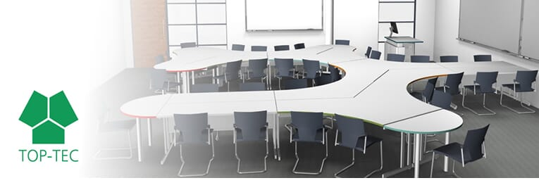 Agile Workspace Desks by TOP-TEC – Boosts Collaboration & Productivity